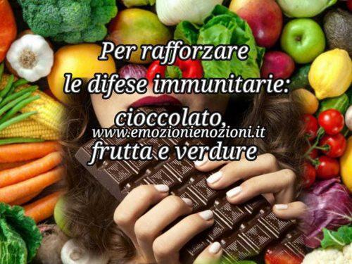 Rafforzare le difese immunitarie con il cioccolato