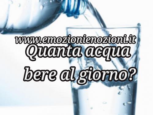 Quanta acqua bere al giorno? 8 bicchieri