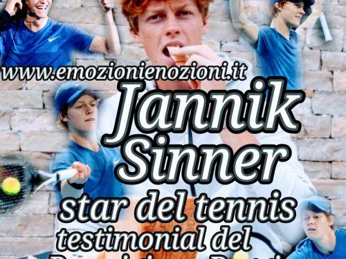 Jannik Sinner, star del tennis: per Parmigiano Reggiano