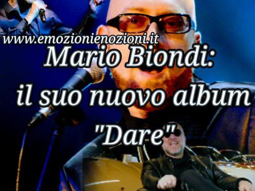 """Mario Biondi: il suo nuovo album """"Dare"""""""