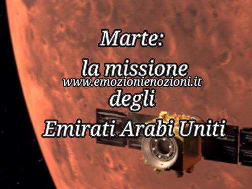 Marte: la missione degli Emirati Arabi Uniti