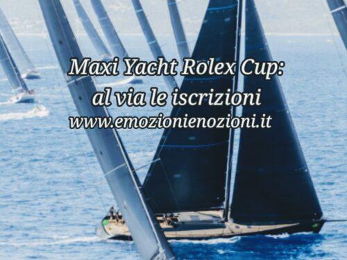 Maxi Yacht Rolex Cup 2021: al via le iscrizioni