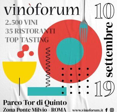 Vinoforum: a Roma dal 10 al 19 Settembre